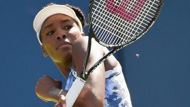 Venus Williamsová uhýbá na US Open včelímu ataku.