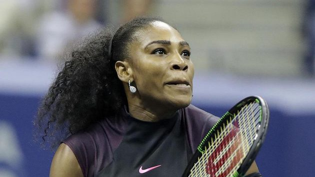 Američanka Serena Williamsová na US Open.