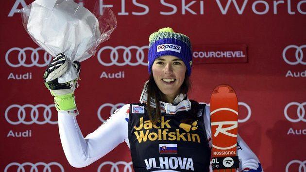 Petra Vlhová po druhém místě při nedávném závodě v Courchevelu.