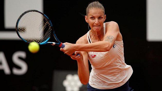 Česká tenistka Karolína Plíšková ve finále turnaje v Římě.