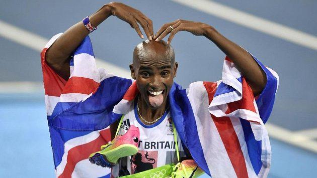 Další hvězdou atletického mítinku Zlatá tretra je britský vytrvalec Mo Farah - archivní snímek z LOH 2016.