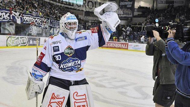 Brněnský brankář Pavel Jekel byl hrdinou utkání s Litvínovem.