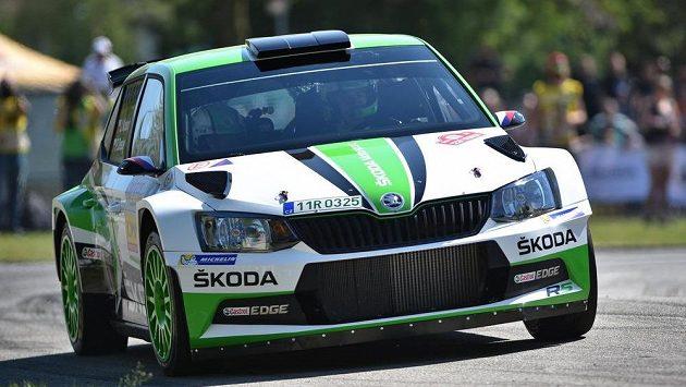 Jan Kopecký a Pavel Dresler s vozem Škoda Fabia R5 ovládli Rallye Český Krumlov.