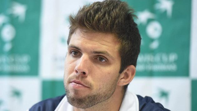 Na snímku tenista Jiří Veselý.