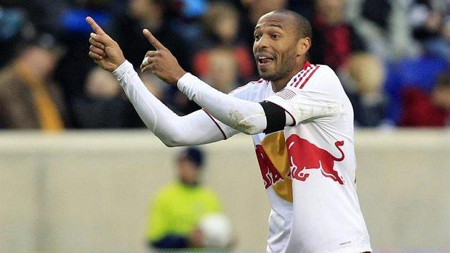 Thierry Henry v dresu týmu New York Red Bulls.