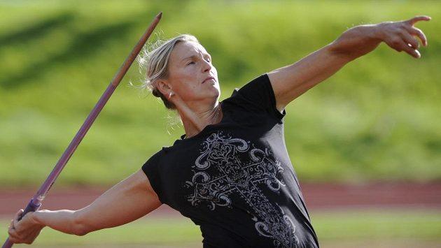 Oštěpařka Barbora Špotáková se na Memoriálu Jana Mazance po mateřské pauze vrátila k závodění.