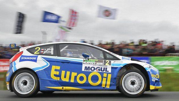 Václav Pech a Petr Uhel, Ford Fiesta R5, na Rallye Šumava
