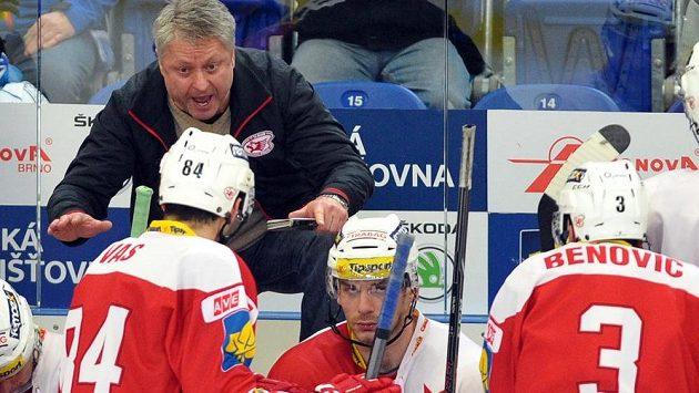 Trenér hokejistů Slavie Dušan Gregor.