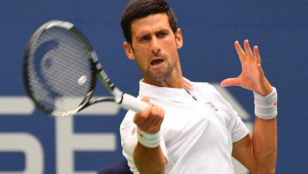 Srb Novak Djokovič při US Open.