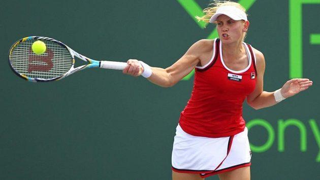 Jelena Dokičová na pět let starém snímku na turnaji v Key Biscayne.