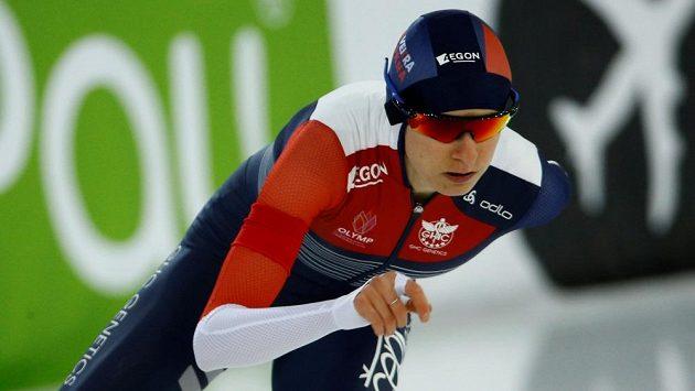 Rychlobruslařka Martina Sáblíková je v polovině vícebojařského ME třetí.