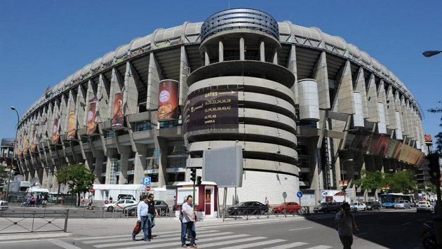 Stadión Santiago Bernabéu v Madridu.