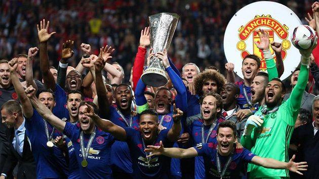 Manchester United - vítěz fotbalové Evropské ligy.