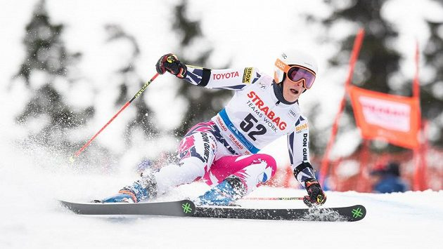 Gabriela Capová během obřího slalomu ve Špindlerově Mlýně.