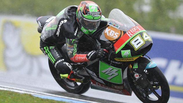 Jakub Kornfeil obsadil ve Velké ceně České republiky v kategorii Moto3 šesté místo.