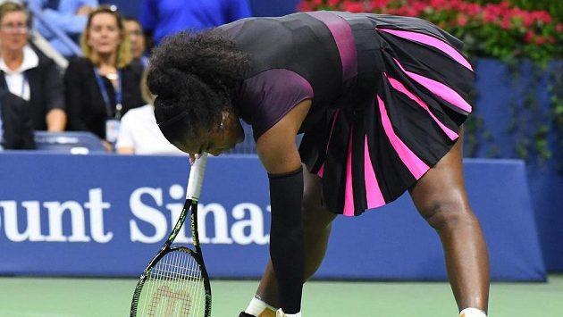 Serena Williamsová během semifinále US Open.