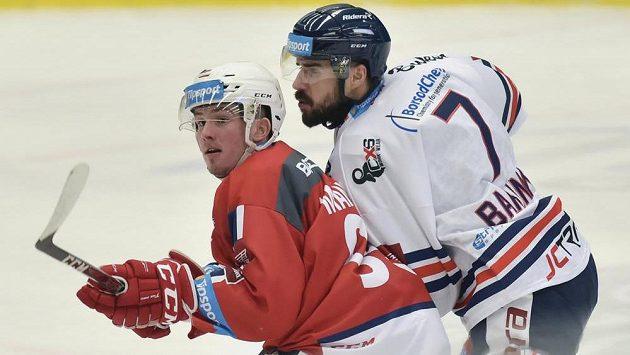 Ivan Baranka (vpravo) mění Vítkovice za brněnskou Kometu.