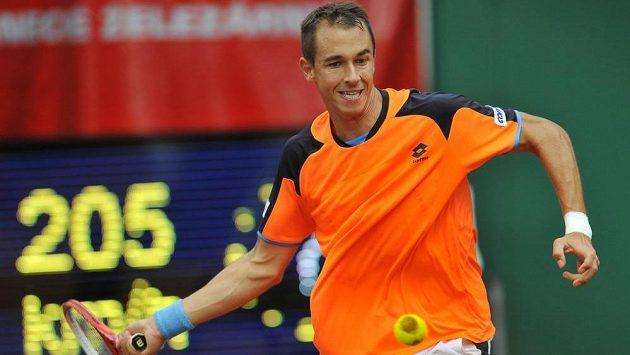 Lukáš Rosol na tenisovém challengeru Czech Open v Prostějově.