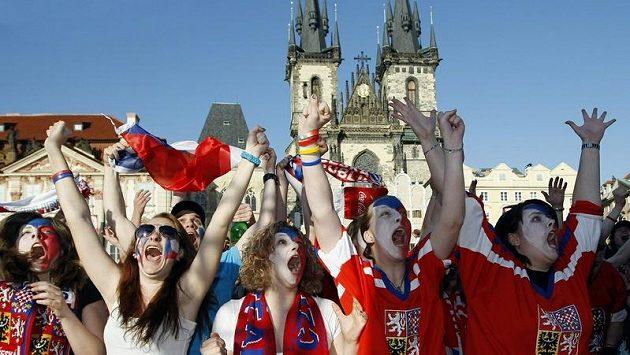 Čeští hokejoví fanoušci - ilustrační foto.