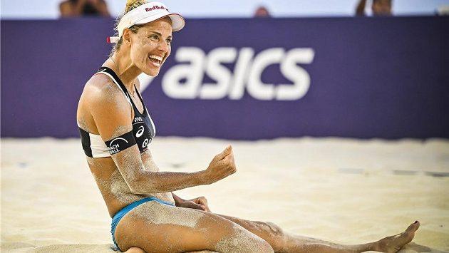 Radost Markéty Nausch Slukové na turnaji v Cancúnu.