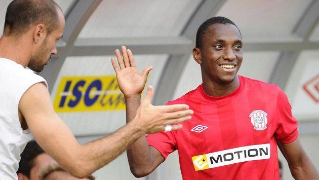 Autor prvního gólu Zbrojovky Mohamed Traoré (vpravo).
