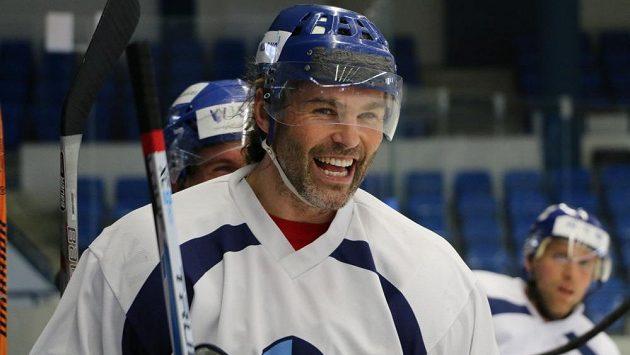 Hokejista Jaromír Jágr v tréninkovém dresu Kladna.