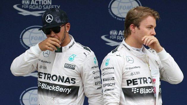 Lewis Hamilton a Nico Rosberg.