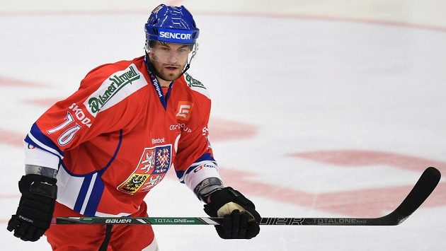 Útočník české hokejové reprezentace Radek Smoleňák ve čtvrtečním utkání proti Norsku.