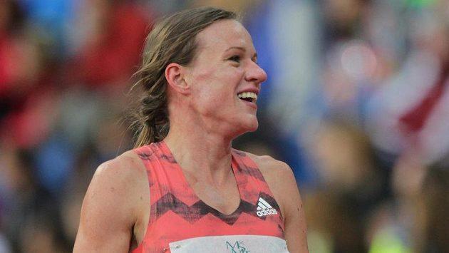 Česká běžkyně Simona Vrzalová po závodě na 1500 m při Zlaté tretře.