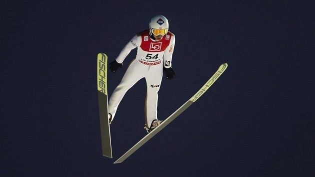 Polský skokan na lyžích Kamil Stoch v Lillehammeru.