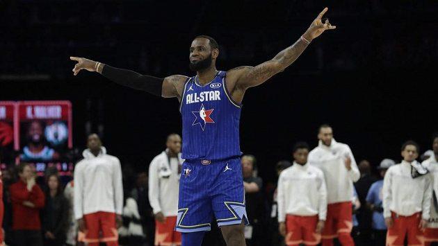 LeBron James během Utkání hvězd NBA.