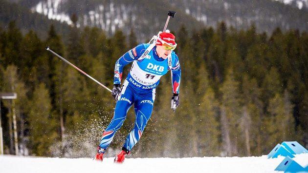 Ondřej Moravec během závodu s masovým startem v kanadském Canmore.