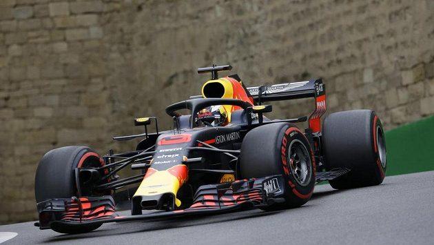 Australský pilot Daniel Ricciardo při tréninku na Velkou cenu Ázerbájdžánu