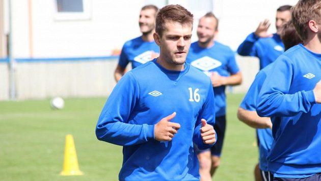 Záložník Milan Jirásek během hostování v Teplicích.