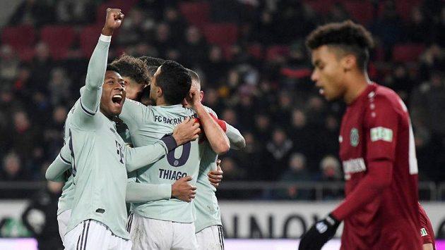 Bayern porazil v německé fotbalové lize Hannover 4:0.