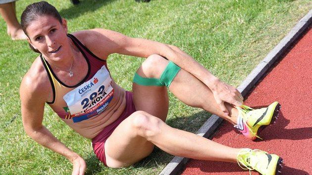 Zuzana Hejnová po zisku titulu na mistrovství republiky.