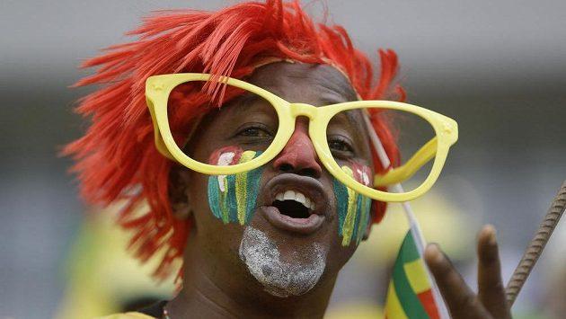 Fanoušek na fotbalovém mistrovství Afriky.