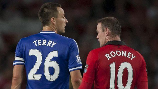Obránce Chelsea John Terry a útočník Manchesteru United Wayne Rooney.