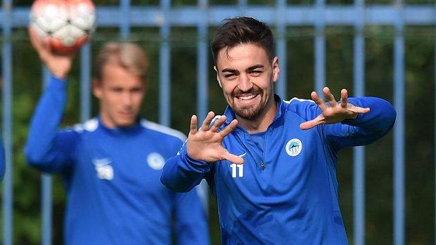 Liberecký David Hovorka před úvodním duelem 4. předkola Evropské ligy s Hajdukem Split.