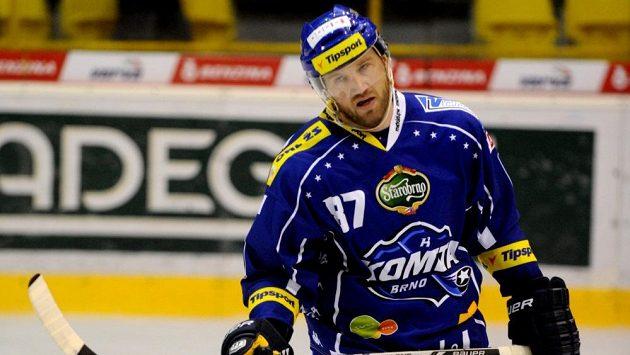 Brněnský útočník Petr Ton byl po vysoké porářce se Spartou hodně zklamaný.
