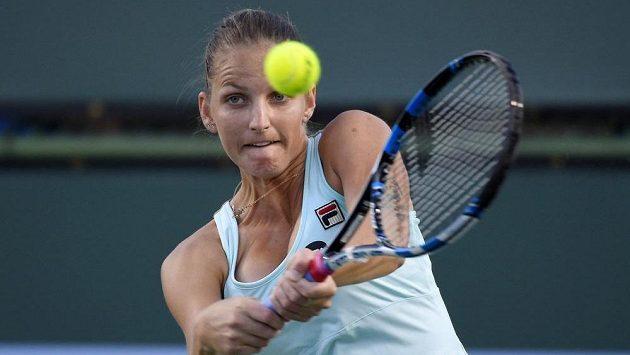 Karolína Plíšková si finále turnaje v Indian Wells nezahraje.