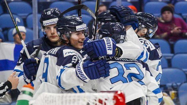 Radost finských hokejistů - ilustrační foto.