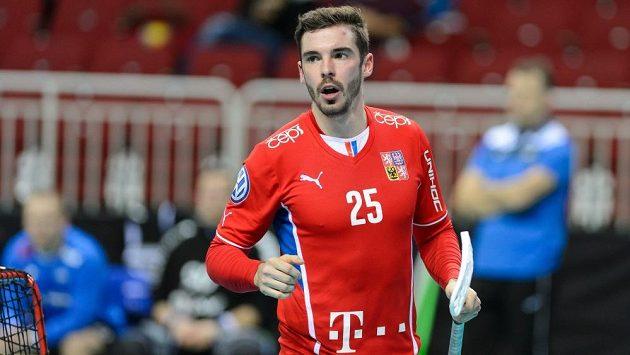 Tom Ondrušek v reprezentačním dresu.