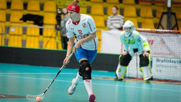 Koleno Hany Koníčkové na mistrovství světa zpevňuje i ortéza (archivní snímek).