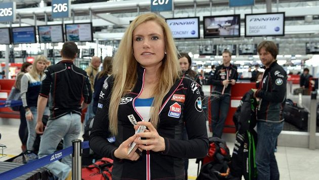 Gabriela Soukalová před odletem na MS do finského Kontiolahti.