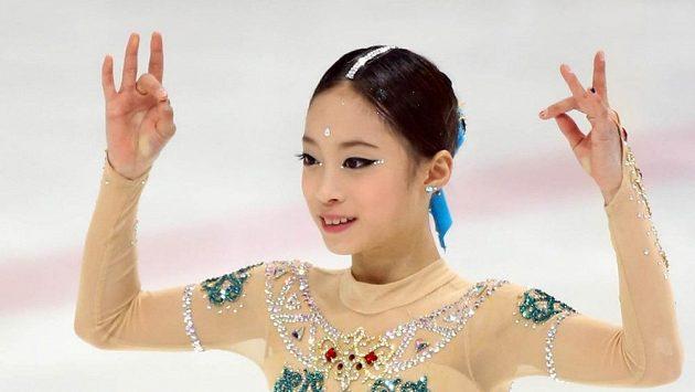 Korejská krasobruslařka Jo Jong se v jedenácti stala mistryní země.