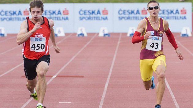 Zdeněk Stromšík (vlevo) porazil v Táboře na mistrovství ČR na stovce i Pavla Masláka.