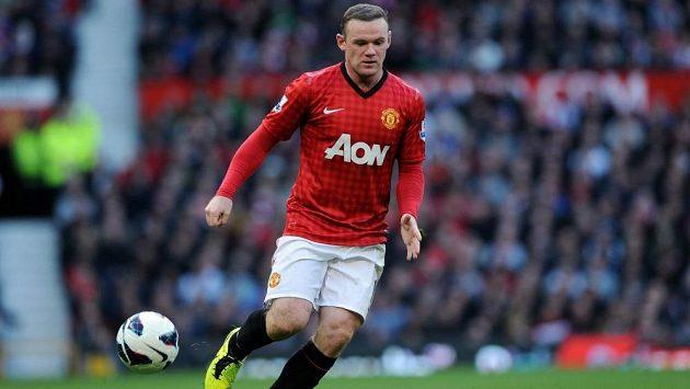Útočník Manchesteru United Wayne Rooney.