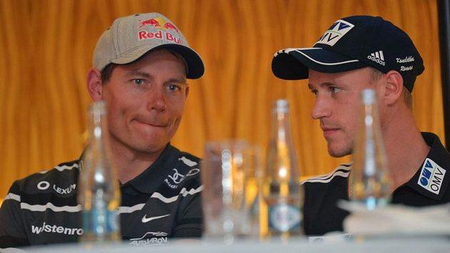 Skikrosař Tomáš Kraus (vlevo) a skokan na lyžích Roman Koudelka spřádají plány před novou sezónou