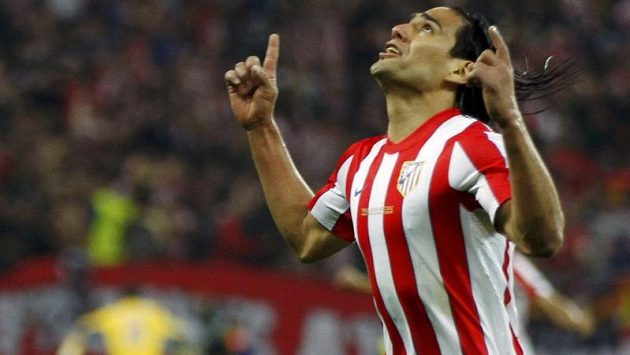 Radamel Falcao v dresu Atlétika Madrid.